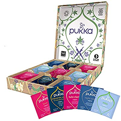 Pukka Relax Selection Gift Box, Collection of Organic Herbal Teas (1 Box, 45 Sachets) from AmazonUs/UNDA7