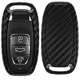 Carbon Soft Case Schutz Hülle Auto Keyless Schlüssel für Audi A4 8K A5 8T 8F A6 A7 C7 R8 Q5 8R A8
