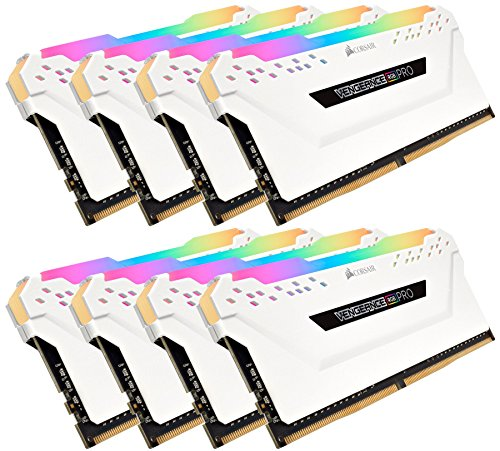 Corsair Vengeance RGB PRO DDR4 enthousiast RGB LED-verlichting geheugenset 3200 MHz. 8 x 16 GB wit