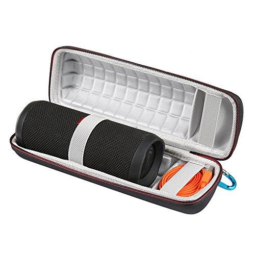 LuckyNV Hard Eva Carrying Travel Case voor JBL Flip 3 4 waterdichte draagbare Bluetooth luidsprekertas. Geschikt voor USB-kabels en accessoires, 2