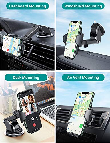 VICSEED Universal Car Phone Mount Car Phone Holder for Car Dashboard Windshield Air Vent Long Arm Strong Suction Ce   ll Phone Car Mount Fit with iPhone SE 11 Pro X XS Max XR Galaxy S20 All Phones