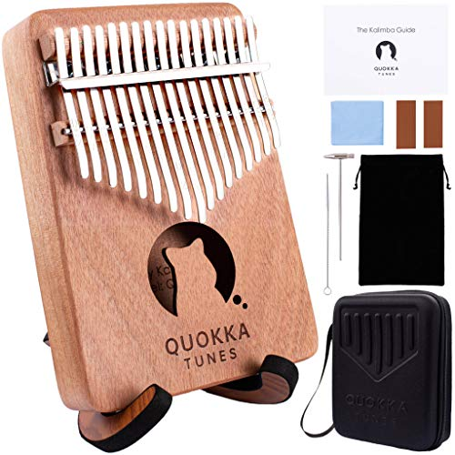 Kalimba Thumb Piano 17 Keys  Finger Piano with Protective Case amp Wooden Stand Portable Musical Instrument for Adults Beginners Music Gifts for Kids Designed in Australia