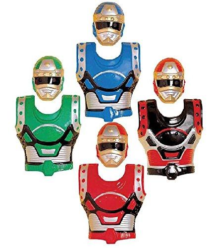 Mondial-fete - 4 plastrons et Masques Robot Enfant PVC 4-8 Ans