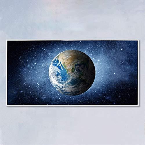 Cartel de la Tierra Decoración para el hogar Arte de la Pared Galaxy Planet Lienzo Pintura Imagen Impresa Decoración Moderna Espacio Estrellas para Sala de Estar