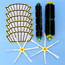 DORLIONA 10pcs Vacuum Cleaner Accessories Kit Filters and Brushes for iRobot Roomba 500 Series