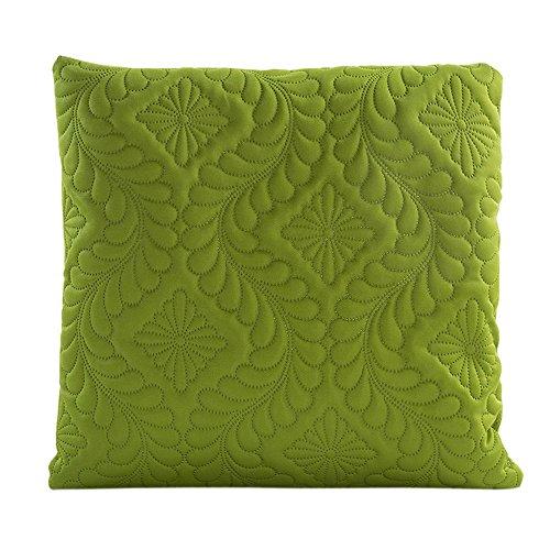 Vovotrade pure kleuren sofa taille kussen dekken uitgangsdecoratie kussen cover cover case 16,9 x 16,9 inch (groen)