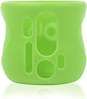 Olababy Silicone Sleeve for AVENT Natural Glass Bottles (4 oz, Green)