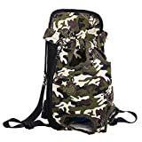 Riveroy Legs-Out Front Pet Dog Carrier by DENTRUN,Hands-Free Adjustable Backpack Travel Bag for Small Medium Female Puppy Doggie Cat Bunny Breeds Outdoor
