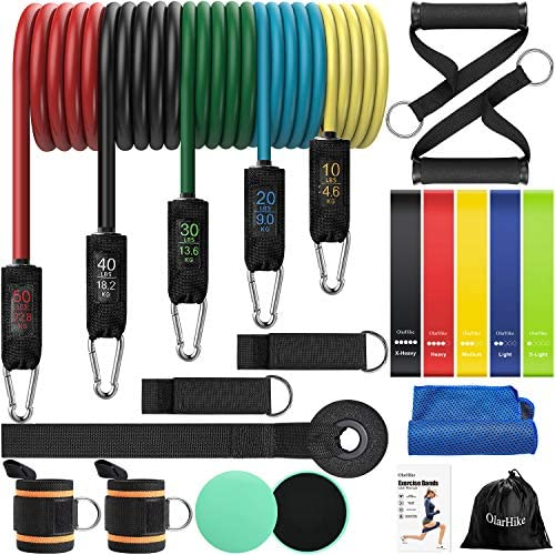 OlarHike Resistance Bands Set Exercise Bands with Handles for Working Out Sports Workout Bands product image