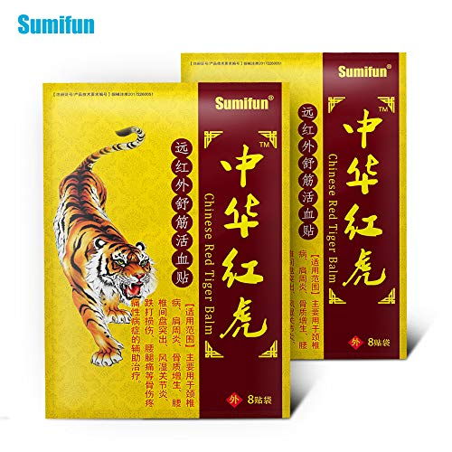 Sumifun 64 Stück / 8 Beutel Schmerzlinderung Patch,Wärmepflaster Patch Plaster Warm Medicated Pain Relief,