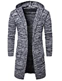 Pinkpum Cardigan Abrigo Manga Larga Casual Suéteres para Hombres Cuello de Solapa Jersey de Punto