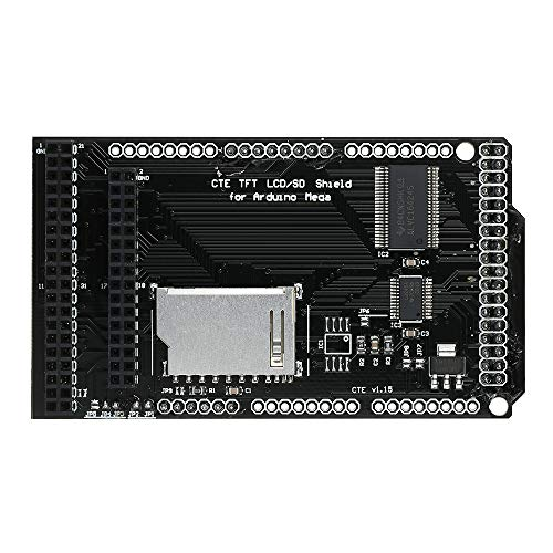 Fesjoy Tarjeta de Expansión CTE TFT/SD Shield Shield para Arduino MEGA 2560 Módulo LCD Tarjeta SD 2.8 3.2 pulgadas