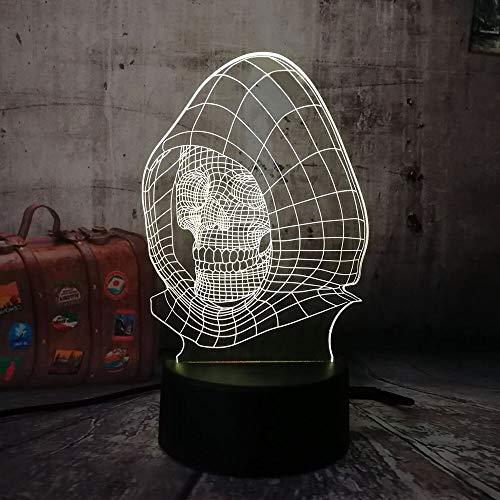 Jiushixw 3D acryl nachtlampje met afstandsbediening van kleur veranderende tafellamp nieuwe hoofdbar kinderen multi eettafel staande lamp