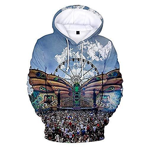 MNMXWUnisex Hoody HD 3D Print Sweatshirt Pullover Kapuzenoberteile Jacke Langarm Stretch Colorblock Loose Hoodie Pullover Tomorrowland-S