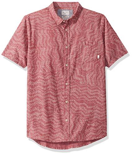 Quiksilver Herren GOLDEN Wattle Short Sleeve Woven TOP Hemd, Goldfarbene Granatrinne, XX-Large