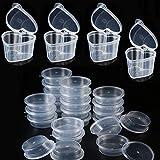 60PCS Slime Containers,Osuter Plástico Contenedores de Limo a Prueba de Fugas Slime Storage Containers con Tapa para Pegamento Agua Cosmética Plastilina