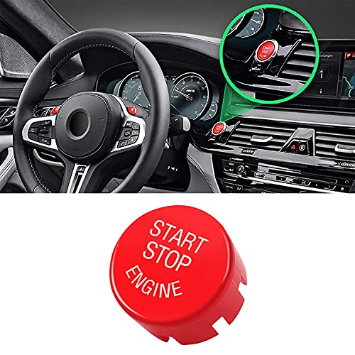 Jaronx Sports Red Start Stop Engine Switch Button Compatible with BMW,Power Ignition Start Stop Button Replacement(Compatible with BMW 1 2 3 4 5 6 7 X1 X3 X4 X5 X6/F30 F10 F01 F15 G01 G30 G31 G11 G12)