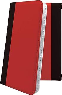 ZenFone4 ZE554KL ケース 手帳型 レッド 赤 朱色 おしゃれ ゼンフォン ゼンフォーン ゼンフォン4 手帳型ケース かっこいい zenfone 4 ボーダー マルチストライプ
