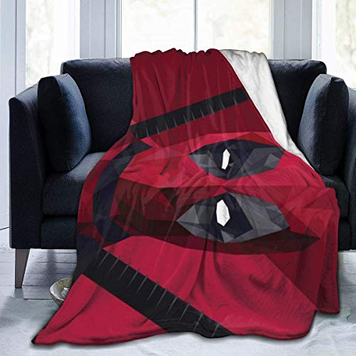 Dead-Pool - Manta de franela ultra suave para sofá de cama, manta cálida para decoración de sala de estar, 127 cm x 40 cm