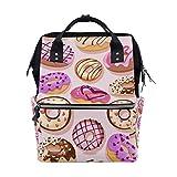 Donuts - Mochila escolar de gran capacidad, para mujer, hombre, adulto, adolescente y niños