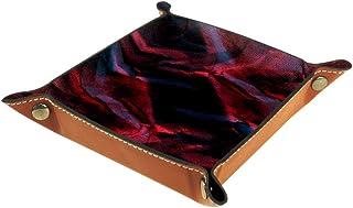 Boîte de rangement pliable en cuir PU pour bureau de couleur - Pour table de jeu de table carrée - Porte-monnaie - Pour pi...
