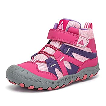 Mishansha Kids Water Resistant Hiking Boots Boys Girls Anti Collision Anti-Skid Athletic Outdoor Ankle Adventure Trekking Shoes Rose and Pink 10 toddler