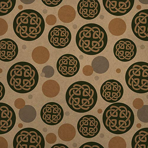 GRAPHICS & MORE Celtic Knot Love Eternity Premium Kraft Gift Wrap Wrapping Paper Roll