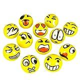 Big Mo's Toys '3'' Party Pack Emoji Stress Balls Stress Reliver Party Favors, Toy Balls, Party Toys (12 Pack)