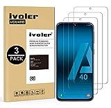 VGUARD [3 Unidades] Protector de Pantalla para Samsung Galaxy A40, Cristal Vidrio Templado Premium para Samsung Galaxy A40