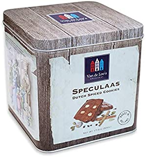 Van De Loo's Speculaas Spiced Dutch Cookie Holiday Gift Tin of 5 | aka Holland Speculoos Butter Cookies