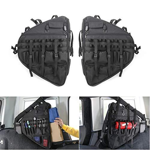 Wrangler JL - Bolsa de almacenamiento para coche con múltiples bolsillos, organizadores y bolsa de carga