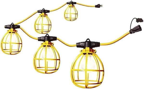 Construction String Lights 50ft Male Female End