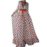 JiaMeng Vestidos Mujer Casual Playa Largos Verano Tie Dye Vestido Boho Hendidura Falda Larga Maxi Vestido Playeros