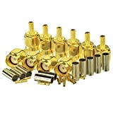 Eightwood 10pcs RP-SMA Male with Female Pin Crimp RF Connector for RG316 RG174 Cable