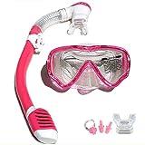 VILISUN Taucherbrille mit Schnorchel Anti-Leck Anti-Fog Schnorchelset Tauchset aus Gehärtetem Glas,...