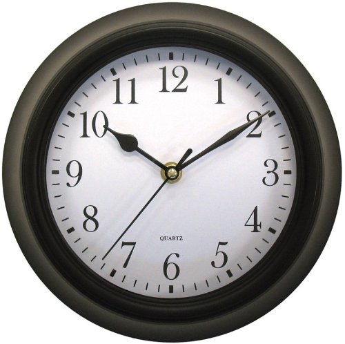 Geneva Clock Co. 4429 Plastic Wall Clock 9. 75x2. 75x11. 75 Black