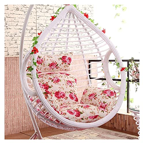 Muebles de jardín Cojines para sillas Cojines colgantes para sillas con forma de huevo, Cojín para sillas columpios Nido grueso sin silla Cesta individual Colgante para huevos Hamaca Cojines para sil