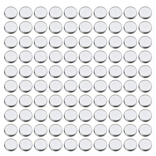 100er-Set Leere Pfännchen für Lidschatten Magnetische DIY Palette Schminkpalette - Rund