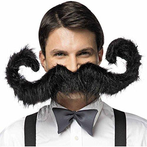 Rasta Imposta 5471-BK Postiche Grande Moustache Noire Homme 76,2 cm (Taille Unique)
