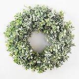 æ— Corona de eucalipto artificial, guirnalda de primavera y verano para interiores y exteriores, decoración del hogar