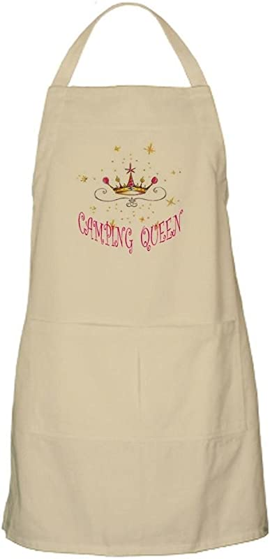CafePress Camping Queen Apron Kitchen Apron With Pockets Grilling Apron Baking Apron