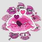 Brillo de labios amor impresión de labios maleta de viaje romántica portátil teléfono móvil guitarra patineta pegatinas impermeables 9 hojas