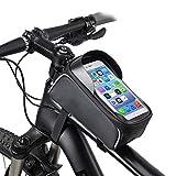 Bolsas de Bicicleta Bolsa Impermeable para Bicicleta Bolsa de Cuadro para Bicicleta, Gran Capacidad y Pantalla Táctil de TPU de 6 Pulgadas