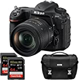 Nikon D500 20.9 MP CMOS DX Format Digital SLR Camera with 16-80mm VR Lens Kit Includes Dual Lexar 64GB Professional 1000x SDXC Memory Cards and Nikon Deluxe SLR Camera Bag