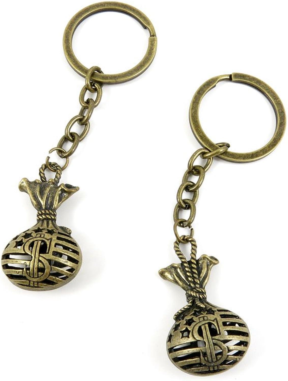 40 PCS Keyring Car Door Key Ring Tag Chain Keychain Wholesale Suppliers Charms Handmade V5FY6 Dollar Bag Sack
