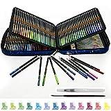 Lapices de Colores Acuarelables para Adultos, Juego de 120 Lápices Acuarelables con Sistema Anti-rotura, Solubles en Agua para Mezclar, Estratificar y Acuarelas