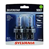 SYLVANIA - 9007ST.BP2 - 9007 SilverStar - High Performance Halogen Headlight Bulb, High Beam, Low Beam and Fog Replacement Bulb, Brighter Downroad with Whiter Light (Contains 2 Bulbs)