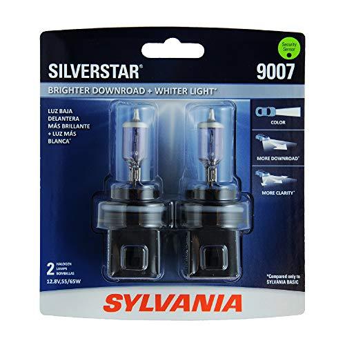 SYLVANIA - 9007ST.BP2 - 9007 SilverStar - High Performance Halogen Headlight Bulb, High Beam, Low...
