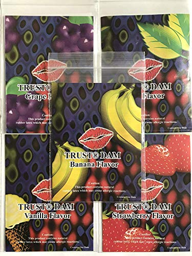Latex Dental Dam Assorted 1 pc. ( 6 Pack )