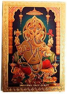Aayam Design and Solutions Ganesha ji Golden foil Sticker Magnet for Fridge/Magnetic memo Boards Rectangular (8 cm x 5.5 c...